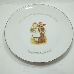 Holly Hobbie Decorative Plate 25th Anniversary